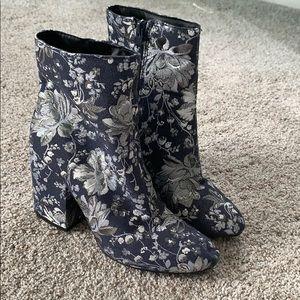Floral booties